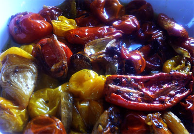 Slow Roasted Tomatoes and Shallots