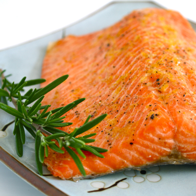 Cedar Plank Salmon with Rosemary and Lemon | Black Girl Chef's Whites