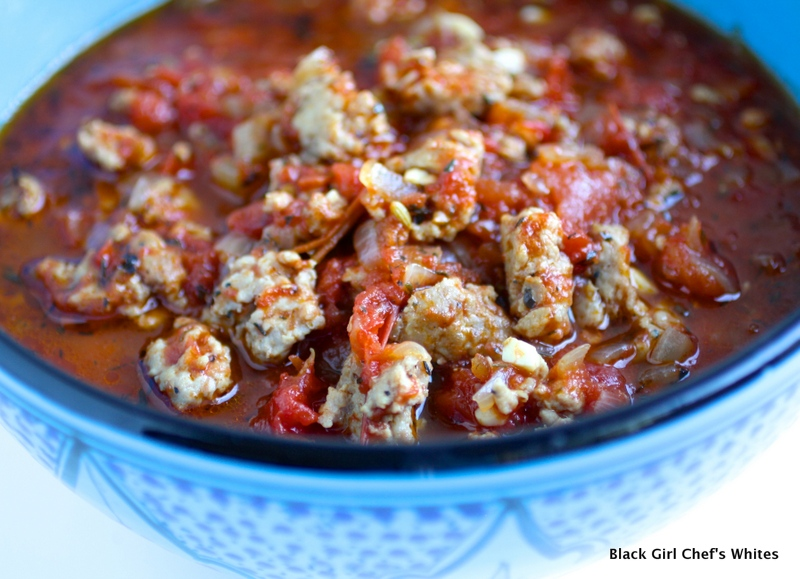Italian Sausage Ragu | Black Girl Chef's Whites