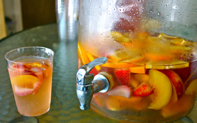 White Sangria | Black Girl Chef's Whites