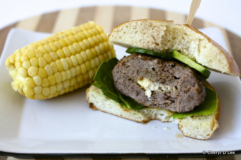 Feta Stuffed Lamb and Beef Burgers | Black Girl Chef's Whites