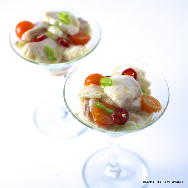 Wild California Halibut Ceviche | Black Girl's Chef Whites
