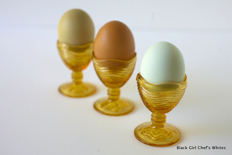 Eggs in Vintage Egg Cups | Black Girl Chef's Whites