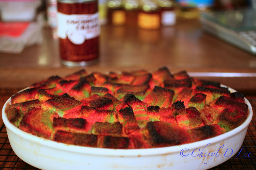 Pineapple Coconut Rainbow Bread Pudding | Black Girl Chef's Whites
