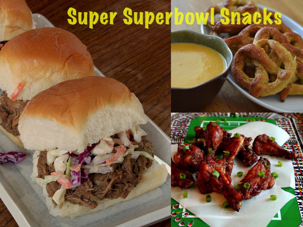 Superbowl Snacks Collage