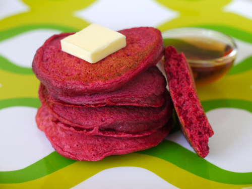 Red Beet Pancakes courtesy of Weelicious