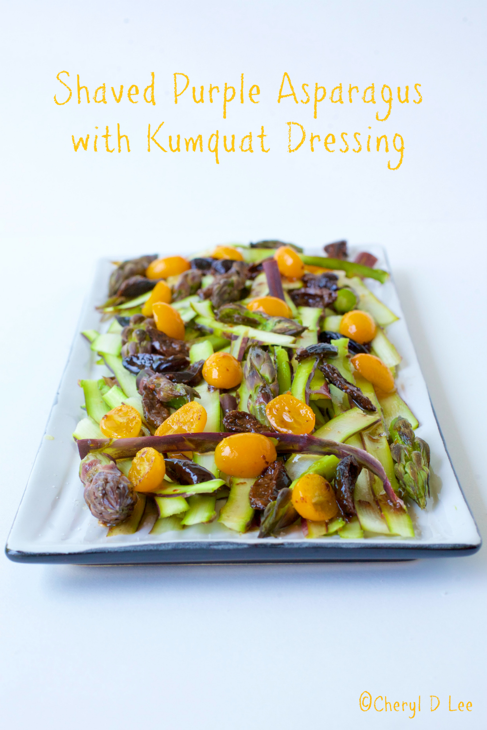 Shaved Purple Asparagus Salad with Kumquat Dressing