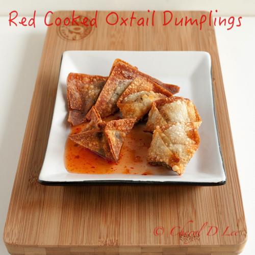Red Cooked Oxtail Dumplings