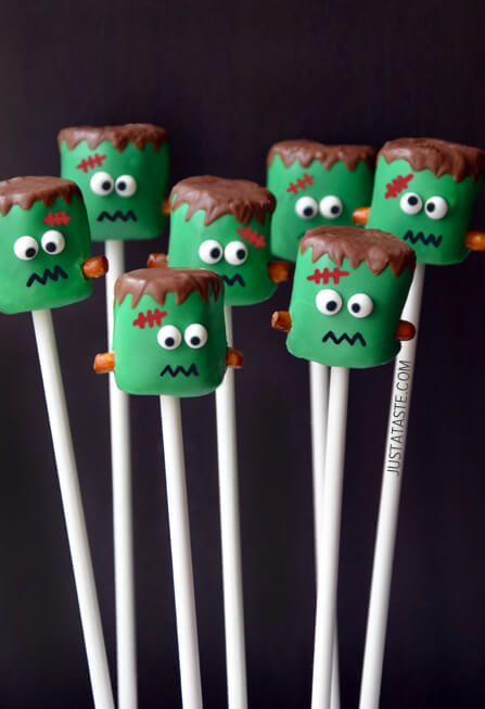 Frankenstein Pops found on Just a Taste