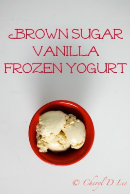Brown Sugar-Vanilla Frozen Yogurt